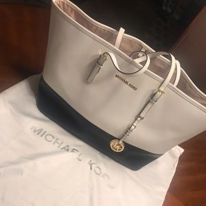 Michael Kors  Navy and White Tote Bag- large